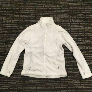 EUC White Columbia Zip-Up Fleece